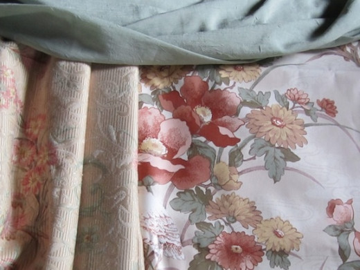 Coordinating fabrics with a peaceful, Asian feel