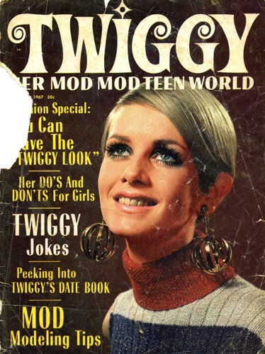 One of Two Magazines That Introduced Me to Twiggy. Unfortunately, Only the Front Cover Survives.
