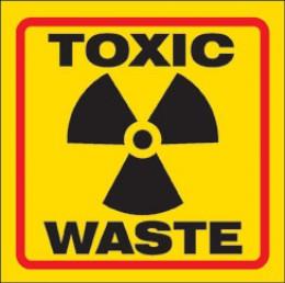 Toxic logo vinyl sticker