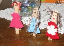 Clothespin dolls made by my granddaughter!