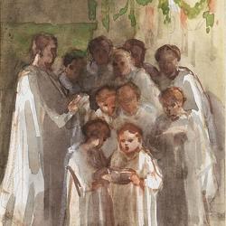 Choir singing on Christmas