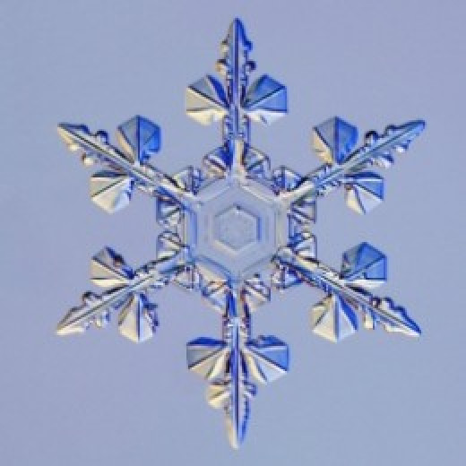 Hexagonal snow crystal