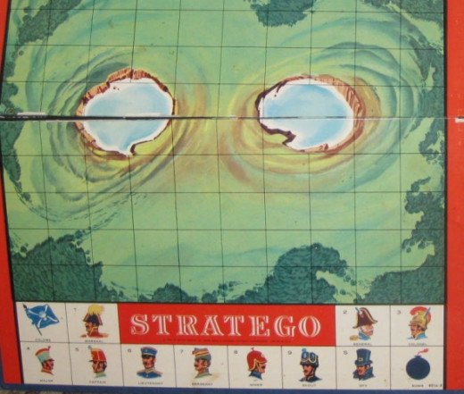 Vintage Stratego game board. It's damaged so I won't feel bad making crafts with it. Photo Credit:  Peggy Hazelwood