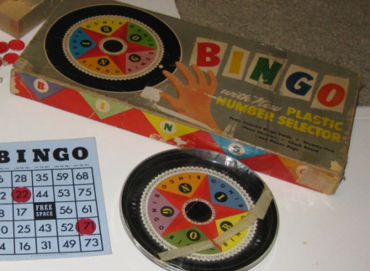 Vintage Whitman BINGO game. Photo Credit:  Peggy Hazelwood