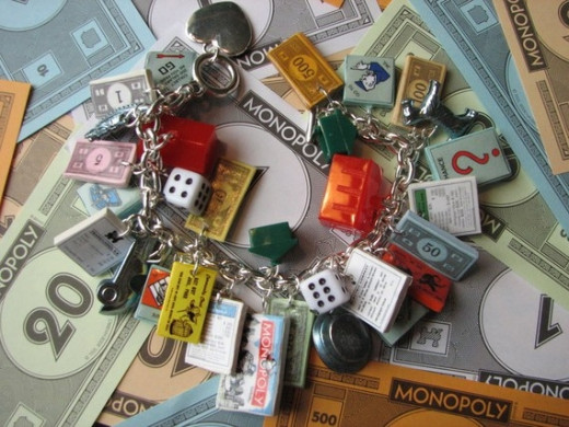 Monopoly bracelet by Etsy seller sweettreatsjewelry. See the link below to visit her Etsy listing.