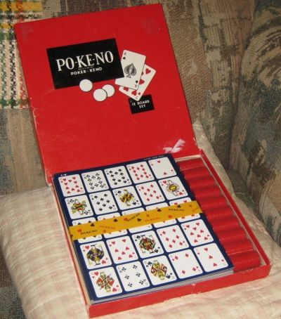 Vintage Poker-Keno Game Set