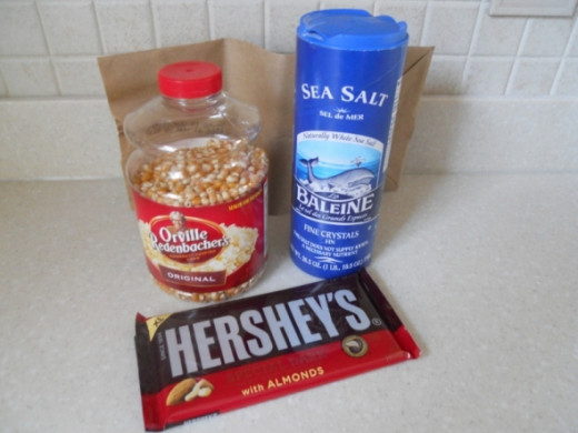 Simple ingredients. Salt optional. Pick your favorite candy bar.