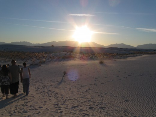 Sunset at White Sands National Monument, NM