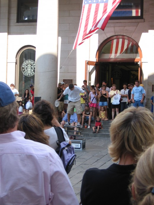 Boston Street Show at Quincy Market