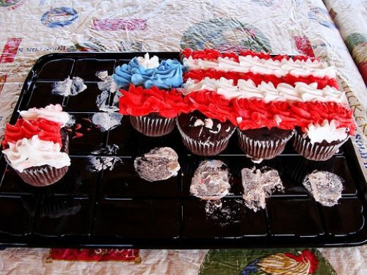 4th July Cupcake first stage