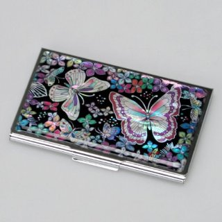 Mother of Pearl Butterfly Card Holder