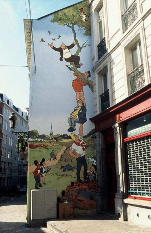 Comic strip in Brussels
