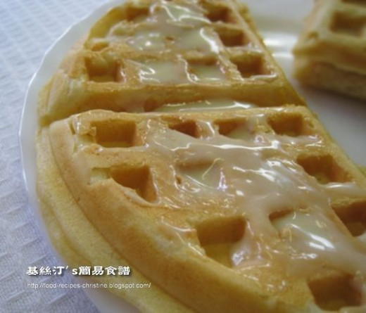 Hong Kong Waffle with Sweetened Condensed Milk