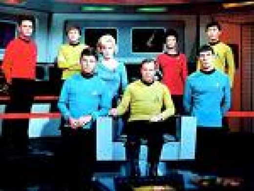 The crew of the Enterprise