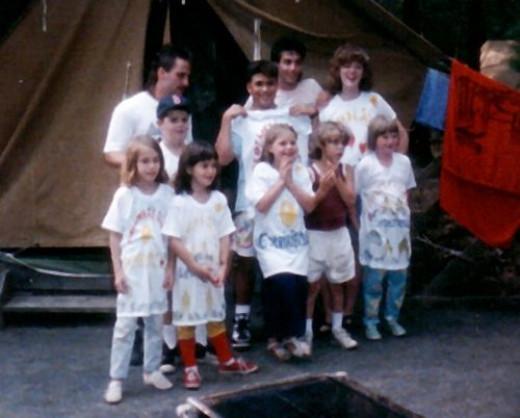 Kamp for Kids Bivouac (that's me far right back :)