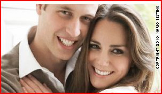 Engagement photo of Kate and William