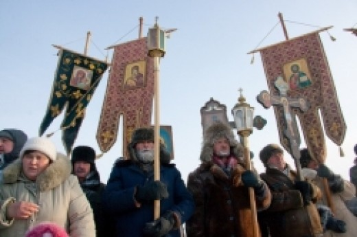 Epiphany procession in Siberia