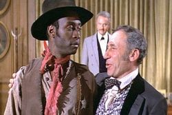 Cleavon Little & Mel Brooks in Blazing Saddles