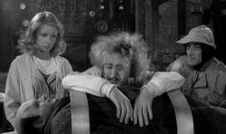 Teri Garr, Gene Wilder, Marty Feldman and Peter Boyle in Young Frankenstein