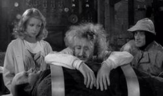 Teri Garr, Gene Wilder, Marty Feldman and Peter Boyle in Young Frankenstein
