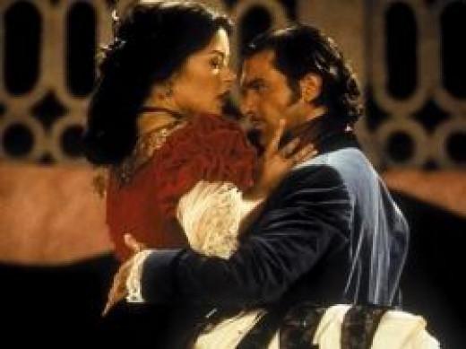 Catherine Zeta-Jones and  Antonio Banderas in The Mask of Zorro
