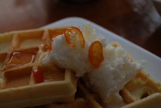 Belgium Waffles and Snow Ice Cream