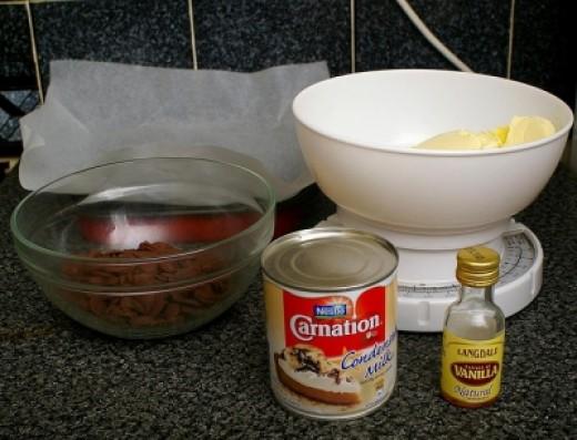Fudge Making Ingredients