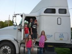 Family with truck