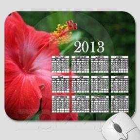 Hibiscus 2013 Calendar Mouse Pad
