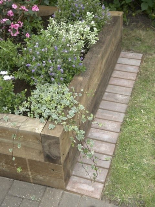 A Mowing Edge For A Raised Bed Garden
