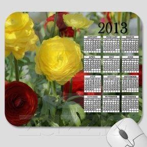 Red & Yellow 2013 Calendar Mousepad