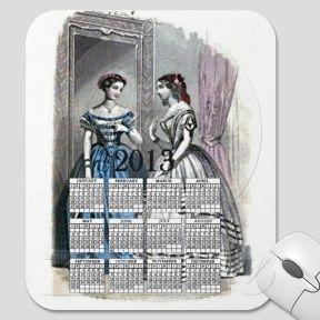 Vintage Women 2013 Calendar Mousepad