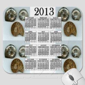 Fossilized Ammonites 2013 Calendar Mousepad
