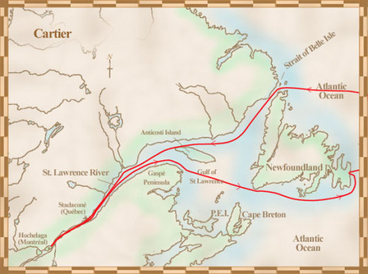 Jacques Cartier's discovery of the St Lawrence River