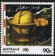 Dampier Globe Stamp - issued 1985