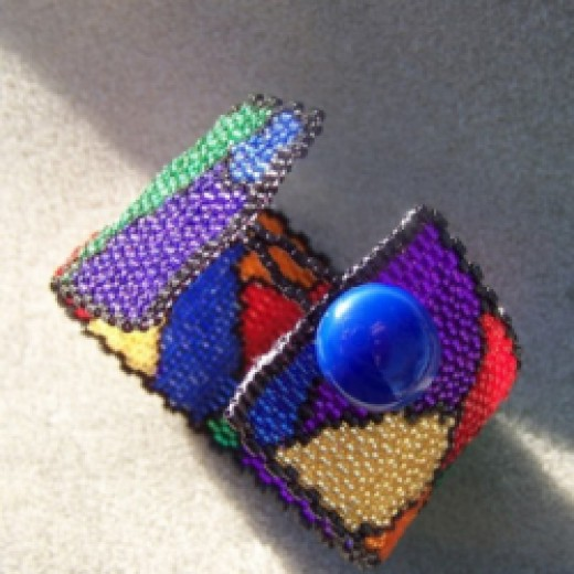 Stained Glass Cuff Bracelet