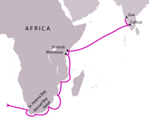 Vasco Da Gama - First  Voyage to India