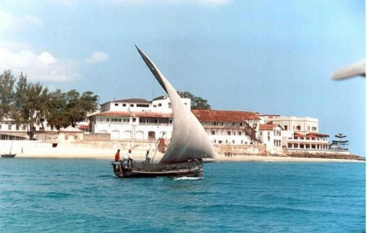 Stonetown and a dhow
