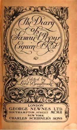 Samuel Pepy's Diary