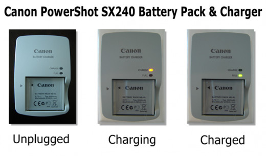 Canon PowerShot SX240 Battery Pack and Charger