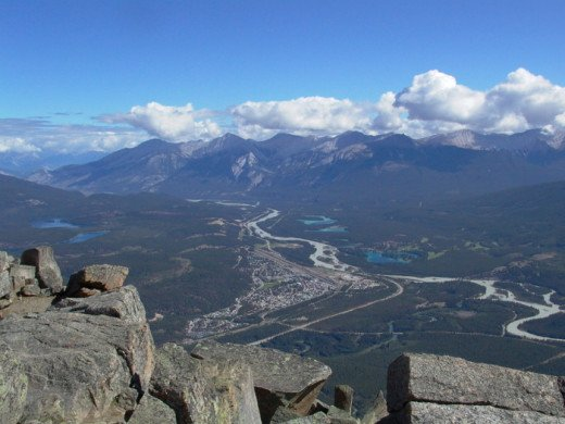 The View of Jasper Town from Whistlers Mountain