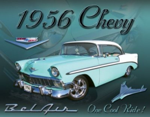 My heart is captured by the Chevy Bel Air. I just love them. Image by AllPosters