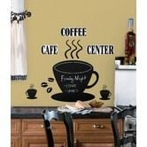 Room Mates Coffee Cup Chalkboard Peel and Stick Wall Decal