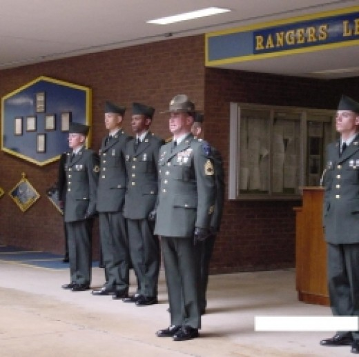 A friend's Basic Training graduation ceremony
