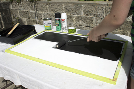 Brush on one layer of magnetic primer paint.  Allow to dry for 30 minutes.  Repeat for a total of 3 thin layers.