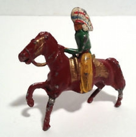 Vintage Indian Toy on Horse