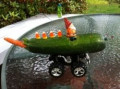How to make a zucchini racing car or zucchini doll with that big zucchini from your garden