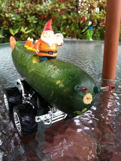 vegetable craft - zucchini car