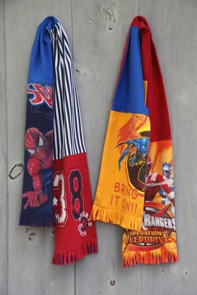 Superhero Graphic Recycled T-shirt Scarf