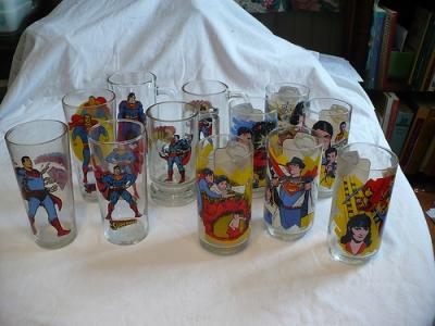 Vintage DC Superman Cups